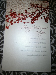 Card from Aunt S