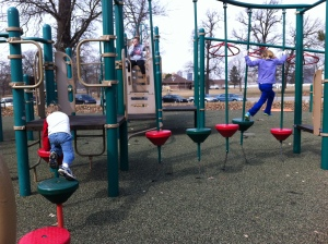 At the Belle Isle playground