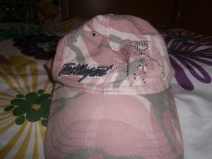 BE's cute baseball cap ... embroidered with Ted Nugent's name!