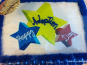 adoption day cake